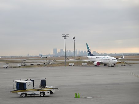 Westjet, Plane, Airline, Yyc, Calgary, Airport, Tarmac