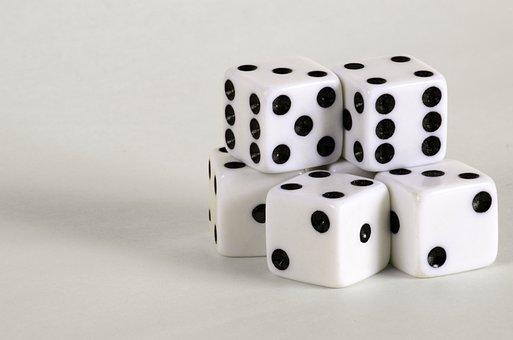 Games, Die, Dice, Spot, Dot, Cube, Luck, Casino, Bet