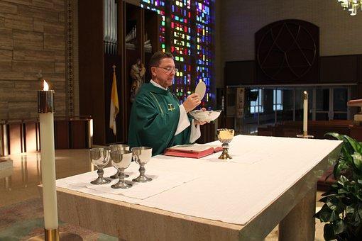 Catholic Mass, Consecration, Priest, Host, Chalice