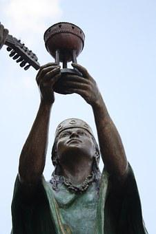 Mexico, Chalice, Offering, Statue, Queretaro