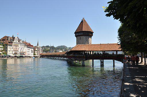 Lucerne, Chapel Bridge, Switzerland, Tower