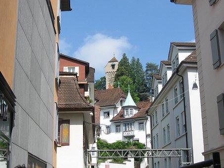Clock Tower, Clock, Tower, Lucerne, Switzerland, Swiss