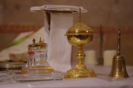 Communion, Church, Chalice, Altar
