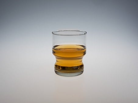 Liquor, Glass, Isolated, Whiskey, Rum, Drink, Alcoholic