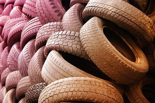 Tire, Warehouse, Dump, Waste, Separation, Rubber