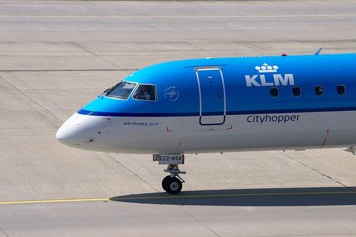 Aircraft, Embraer 190, Klm, Airport, Zurich, Zrh