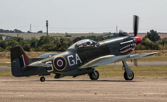 Fighter Plane, Aeroplane, North American, P-51d Mustang