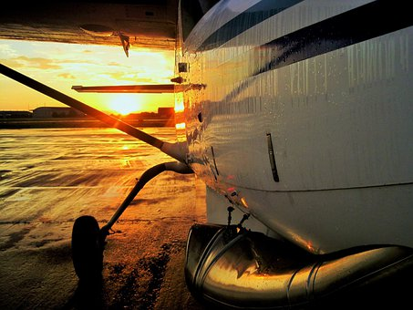 Airbase, Sunset, Tarmac, Flightline, Wet, Aircraft