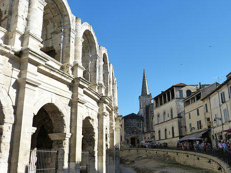 Arles, France, Old Town, Historically, Rhône, Theater