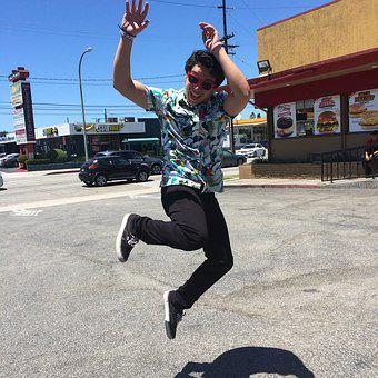 Jump, High, Action, Active, Fun, Freedom, Young, Happy