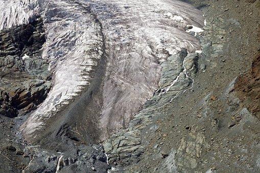 Glacier Tongue, Zermatt, Gornergrat, Breithorn, Ice