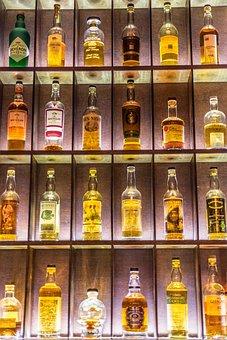 Drink, Alcohol, Booze, Bottles, Glass, Alcoholic
