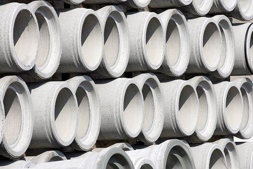 Concrete, Concrete Pipe, Civil Engineering, Grey