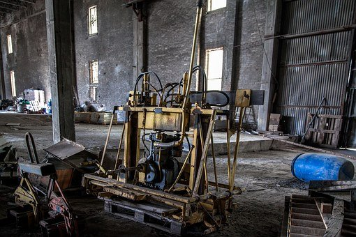 Machinery, Destruction, Abandoned Factory, Hollow
