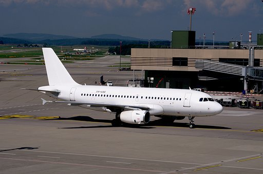 Airbus A319, Airport Zurich, Jet, Aviation, Transport