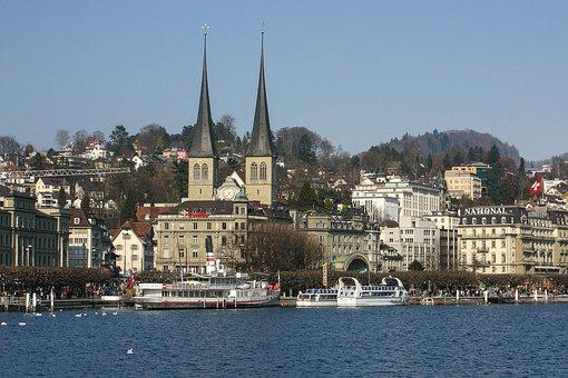 Lucerne, Hofkirche, Lake Lucerne Region, Water