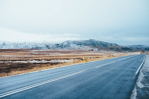 Snowy Mountains, Landscape, Mountains, Snow, Highway