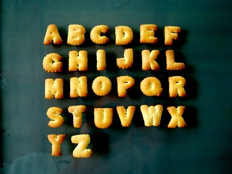Food, Alphabet, Biscuit, Letter, Font, Baked, Number
