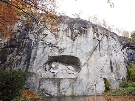 Lion Monument, Monument, Lion, Dying, Relief