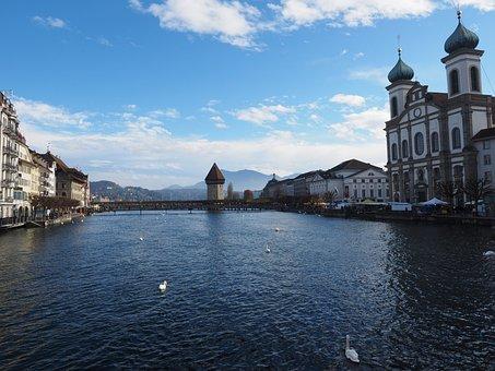 Chapel Bridge, Water Tower, Lucerne