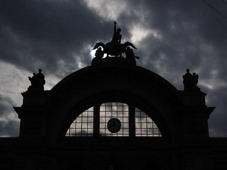 Lucerne Railway Station, Station Portal, Dark, Gloomy