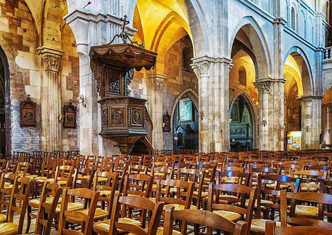 Church, Cathedral, Gothic, Medieval, France, Religion