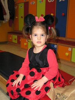 Little Girl, Costume, Carnival, Minnie Mouse