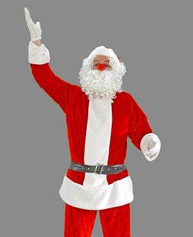 Santa, Santa Claus, Nicholas, Christmas, Red, Nose