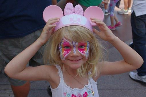 Face, Painting, Butterfly, Art, Disney, Micky, Minnie