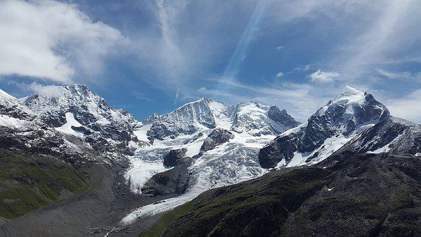 Piz Bernina, High Mountains, Bernina, Piz Morteratsch