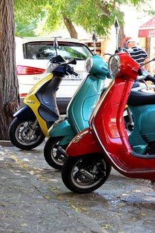 Motor Scooter, Park, Flitzer, Retro, Roller, Cult