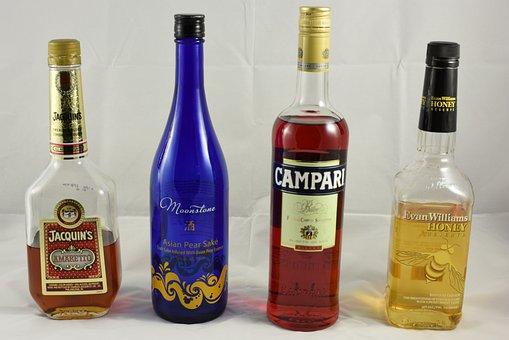 Alcohol, Bottles, Liquor, Amaretto, Sake, Japanese Sake