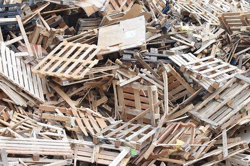 Wood Waste, Waste, Wood, Scrap, Garbage, Palettes