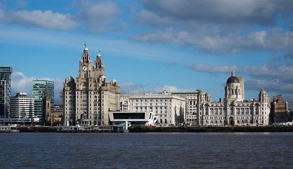 Liverpool, Mersey, Liver Building, Graces, Sea