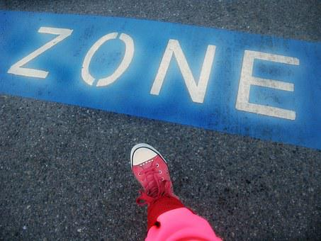 Sign, Foot, Sneaker, Pink, Blue, Tarmac, Step, Symbol