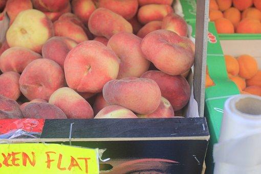 Peach, Flat Peach, Flat, Square Peach, Unripe Peaches