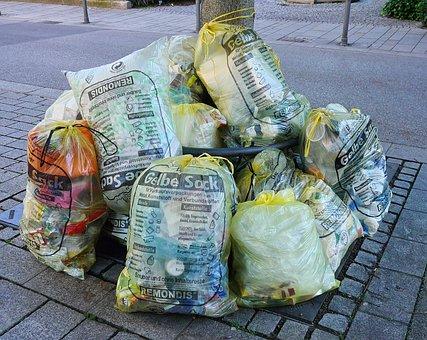 Waste, Garbage, Yellow Sack, Starnberg