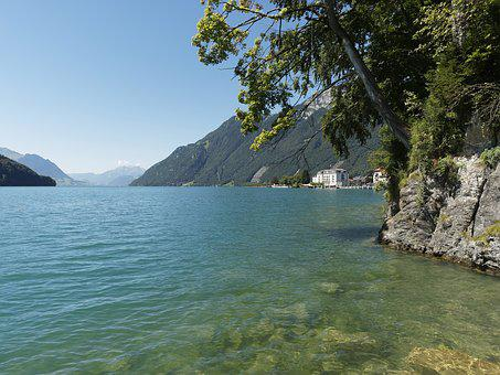 Lake, Water, Water's Edge, Switzerland, Lucerne