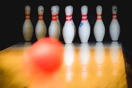 Bowling, Success, Target, Motion, Blur, The Ball, Red