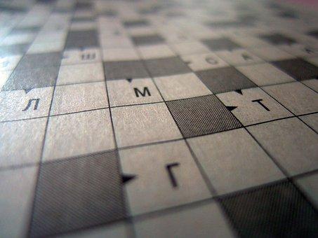 Crossword Puzzle, Background, Think, Intelligence