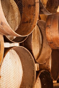Wooden, Sieve, Sift, Object, Tool, Old, Equipment