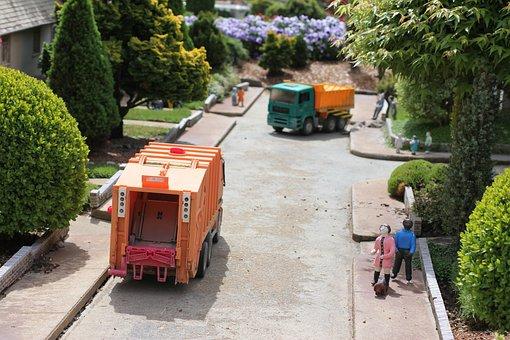 Garbage, Truck, Community, Miniature, Garbage Truck