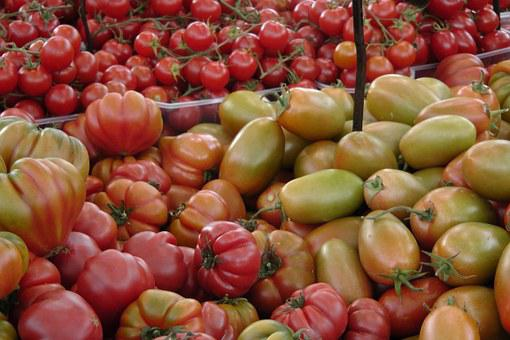 Tomatoes, Vegetables, Market, Green, Red, Ripe, Unripe