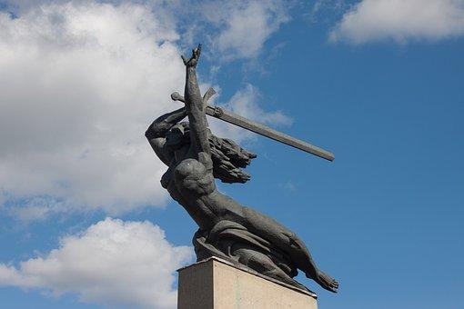Nike, Warsaw, Monument, Sword, Victory, Symbol, Sky