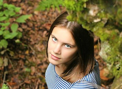 Eyes, Girl, Top, View, Portrait, Riddle, Forest, Elf
