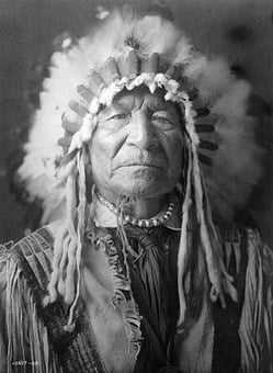 Historical, Vintage, Sioux, Indian, American, Chief
