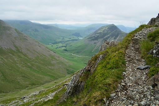 The Lake District, Lake, District, Wast, Water, Cumbria