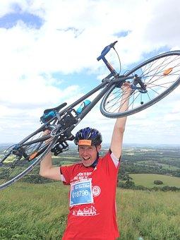 Cyclist, Race, Sport, Winner, Countryside, Champion