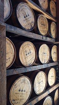 Wooden, Whiskey, Barrels, Woodford Reserve, Bourbon