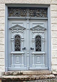 Wooden Door, Door, Input, Artfully, Historicism